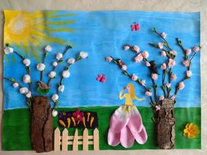 Klasa czwarta powitała wiosnę:)